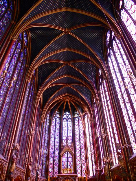 King Louis IX built Sainte Chapelle to house the Crown of Thorns.