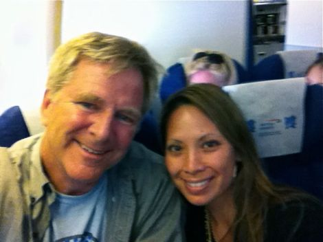 Rick and I flying off to do some work in Europe