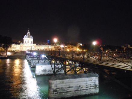 The pedestrian-only bridge -- Pont des Arts