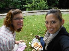 Picnicking in Villedieu Les Poêles with Julie Sonveau, my darling friend and mentor.