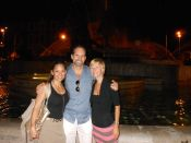 Kelly Ruhlig (my fellow UW alum), her husband Jeff Olsen, and I had a bella notte in Rome.
