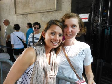 Cristina Sutton --PhD candidate at UW/one of my former T.A.s and classmates-- was helping with the French study abroad summer program in Paris.