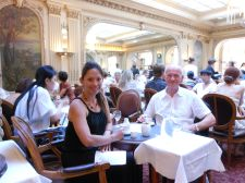 Martin and I crossed paths once more in Paris, so we enjoyed a chichi lunch at Angelina's.