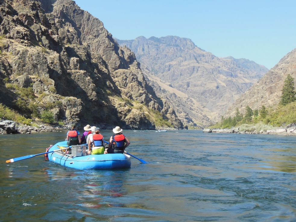 Slithering down the Snake River.