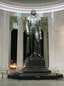 Thomas Jefferson: Founding Father, author of the Declaration of Independence, third president of the U.S., great citizen and leader.