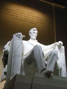 Abraham Lincoln--the embodiment of action, equality, and justice.