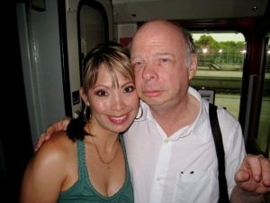 "Bonus photo:  OK, this isn't at a travel show, but I had to put this up.  I met Wally Shawn (The Princess Bride, Clueless, Toy Story) on a night train to Berlin, and he was so gracious to me and my students.  ""Inconceivable!"""