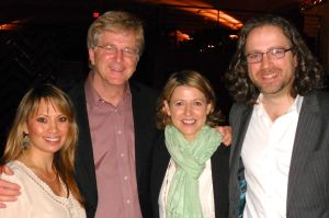 Rick and I palling around with Samantha Brown and her husband and manager Kevin.
