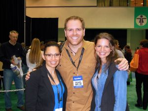 Josh Gates (here with his lovely and witty partner, Hallie) is funny, charming, and just so dang clever.