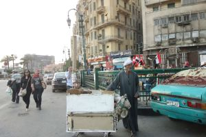 Exploring Tahrir Square and the environs, on this day, we found it to be both lively and safe.