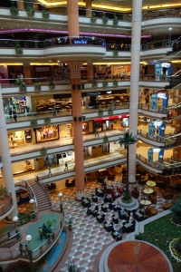 For more upscale shopping than a market street, Egyptians who can afford to shop at seven-story mega malls like City Stars.