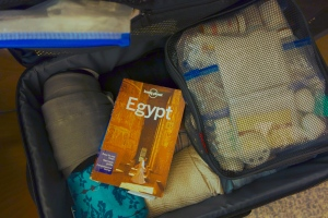 I'm glad I brought the guidebook, but I'm ready to lighten my load by ditching some of the too many clothes I brought and the misinformed preconceptions I have about Egypt.