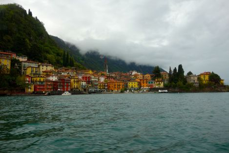 A view onto Varenna from the middle of Lago di Como