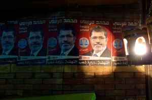 Old posters of Morsi are a lingering reminder of the failures of the current government.