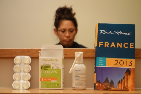 """These (apart from the book) are the homeopathic """"medications"""" zee pharmaceest had given me."""