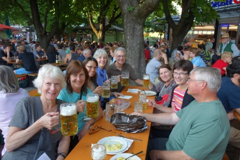 There's nothing like a biergarten to get people in the spirit of mingling and sharing stories over a hearty beverage.