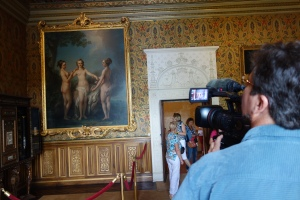 Peter gets some b-roll of a painting of Henri IV's mistresses as The Three Graces.
