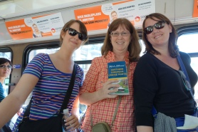 Enjoying the Oslo's efficient public transportation and riding with mostly locals, we ran into happy readers of Rick Steves' Northern European Cruise Ports guidebook.