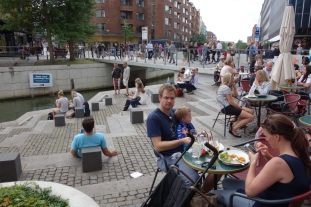 """Aarhus has turned its """"downtown"""" area into a people-friendly outdoor living room, and we loved sharing in the good vibes."""