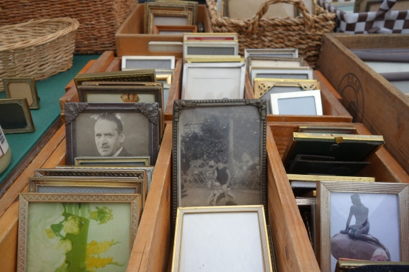 Perusing this collection of frames in a local market, I found a framed photo of the Little Mermaid that was cheaper than any postcard of her.