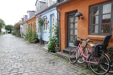 Even just wandering down a residential street can give you insight into a culture. No garages, no separation between homes, tidy, quiet--what conclusions would you come to about this community?