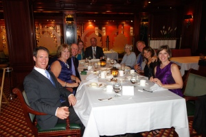 Sharing a meal with new friends is a delightful bonus when you travel by cruise ship.