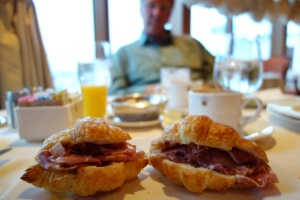 Sometimes we over-ordered so we could have fabulous prosciutto croissants for lunch while we explored the local port city.  Shhhh, this travel secret's between you and me.