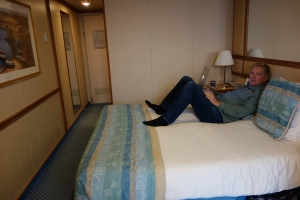 Our stateroom provided comfortable and ample space for respite, work, and slumber.