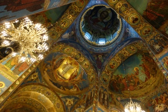 The interior of the Church of the Savior on Spilled Blood is replete with exquisite mosaics.