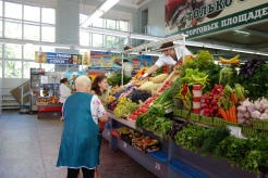 As in most cities, people remain ever-loyal to their favorite vegetable, fish, and, honey vendors.