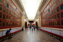 The Military Gallery at the Hemitage has hundreds of portraits of important military men.