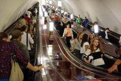 It takes five minutes each way to get in and out of the St. Petersburg metro. Imagine spending 40 hours a year just to use the metro.