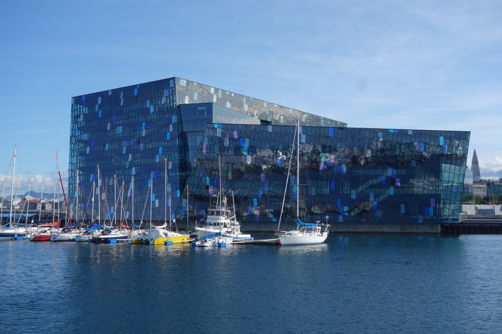 Harpa from the water.