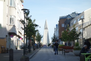 Life is calm and quaint along one of the main drags in downtown Reykjavik.