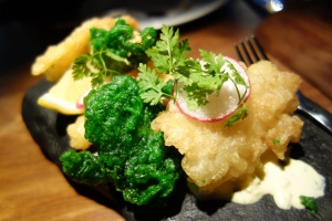 Deep fried squid and fish from Tryggvi in the Westfjords