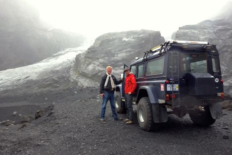A Super Jeep like this can take you virtually anywhere in Iceland...just be prepared to come back with a few bruises.