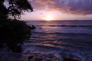 Morning on the windward coast of Oahu.