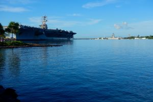 From L to R: USS Nimitz, USS Missouri, USS Arizona Memorial