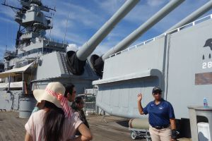 Linda expertly shares history and touching stories of the USS Missouri.