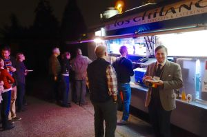 Our European guides get a taste of the taco truck phenomenon in our own driveway.