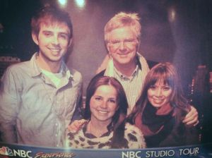 A picture of a picture: our official NBC Studios Tour photo.