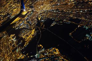 NYC and the Jersey Shore from 10,000 feet.