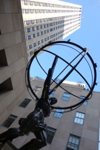 Atlas in front of the GE Building at Rockfeller Plaza.
