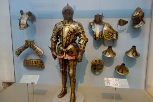 Expertly crafted and artfully detailed armor show how art and war can intertwine.