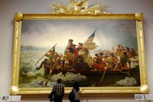 American history captured in art--Washington Crossing the Delaware.
