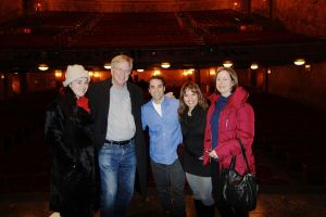 Joseph Leo Bwarie graciously welcomed us backstage after the show to give us a tour of the theater.