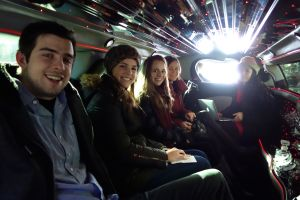 With seven of us, it's nice and cost-effective to tour New York and Nicolina's art in style.