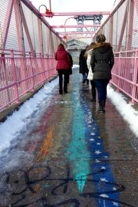 Why just walk on a bridge when you can traverse the boroughs on a rainbow?