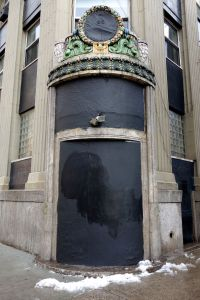 "What was once an elaborate and exotic ""portal""  is now an eyesore."