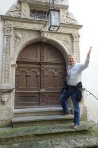 Even Rick gets charmed by Rothenburg.  This 16th-century door was the inspiration for the cover of his first edition of Europe Through the Back Door.